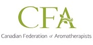 image of the logo for the canadian federation of aromatherapists which living essentials, the providers of certified aromatherapy and foot reflexology courses, is a member of.