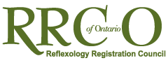 image of the logo for the reflexology registration council which living essentials, the providers of certified aromatherapy and foot reflexology courses, is a member of.