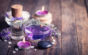 Image of aromatherapy in practice as taught by living essentials through their certified aromatheraphy courses.